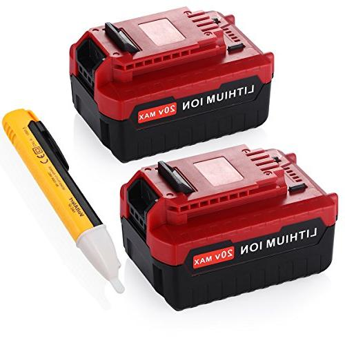 -Powerextra 2 Pack 5.0Ah 20 MAX Lithium Replacement Battery