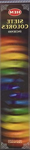 Hem Rainbow/Seven Colours Stick Incense - 35 sticks