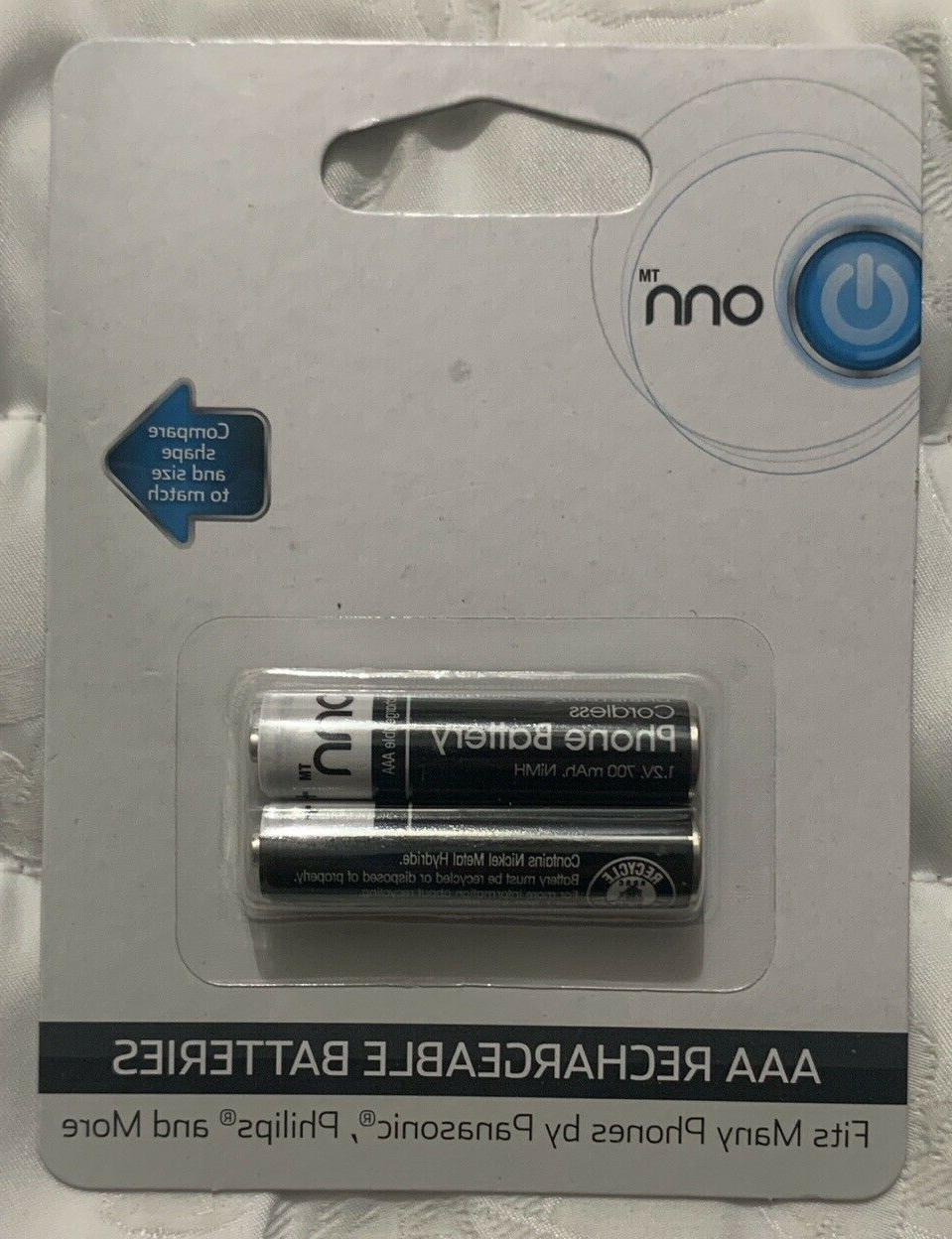 aaa rechargeable batteries 2 pack fits many
