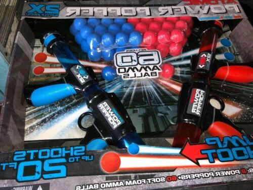 Atomic Power Popper Dual Battle With 60 Ammo Balls