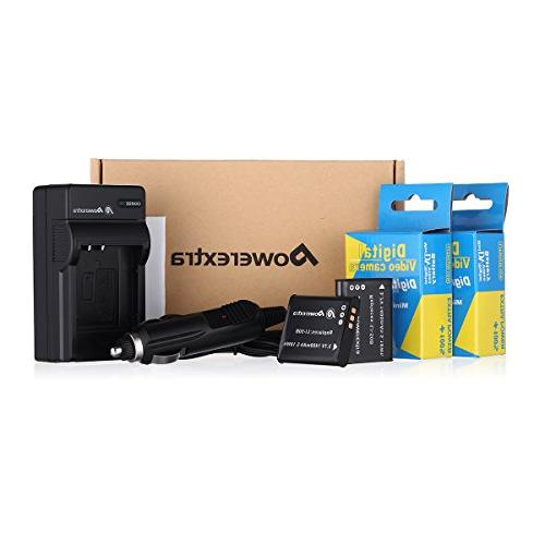 Powerextra 2 and Charger Compatible Olympus and SZ-15, 6000, 6020, 8000, iHS, iHS, iHS, TG-850, VR-370, XZ-1