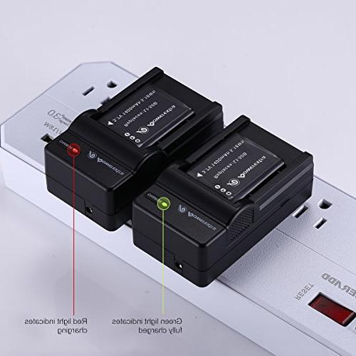 Powerextra 2 and Charger Compatible Olympus and SZ-15, iHS, Tough 6000, TG-630 iHS, TG-820 iHS, TG-850, VR-370,