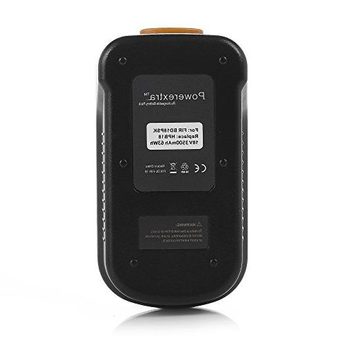 Powerextra 2 Battery with Black 244760-00 Firestorm and 18