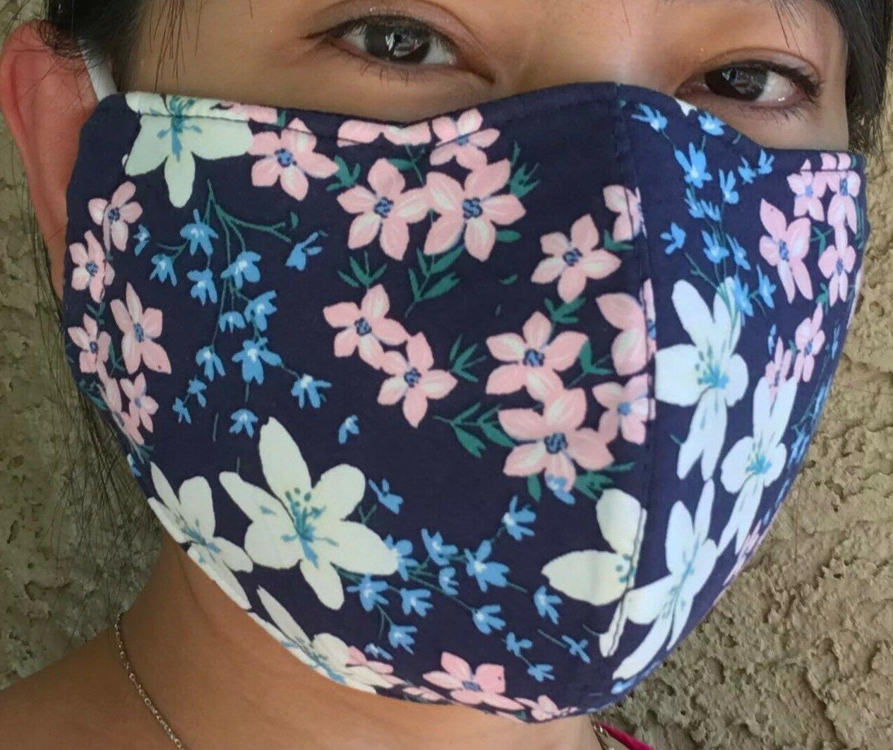 Mask, FLOWER fabric, 3-Fly M