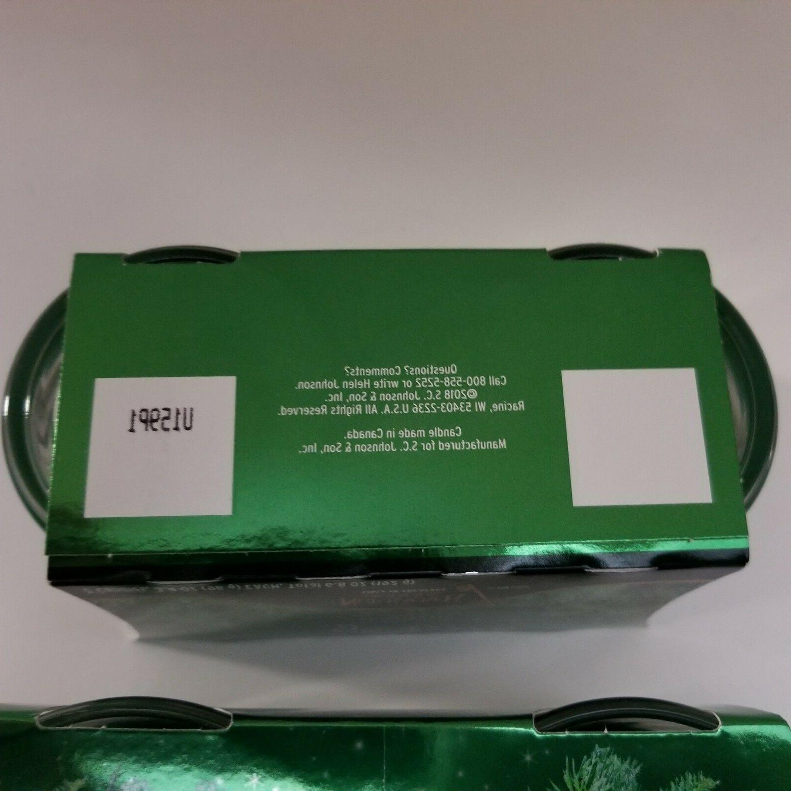 Glade Enchanted Evergreens Candles Twin Pack Lot 2 Fir Holly Limited Edition