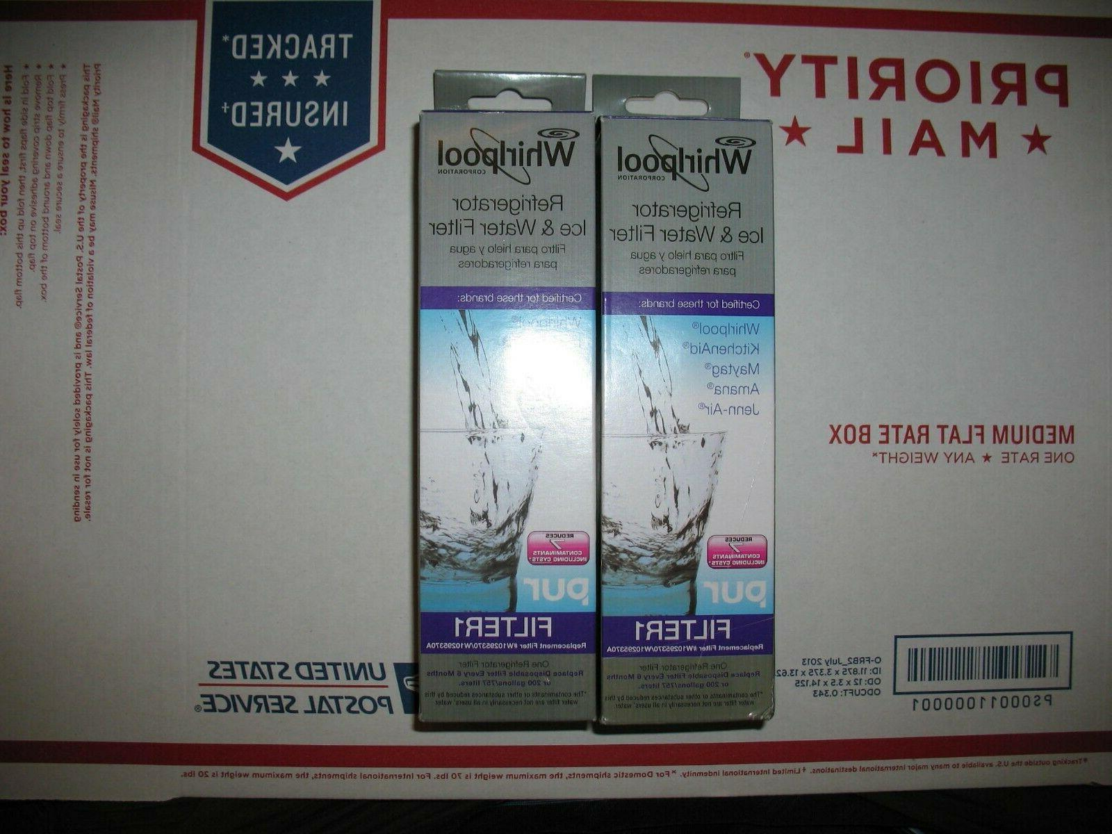 filter1 2 pack w10295370a refrigerator water filter