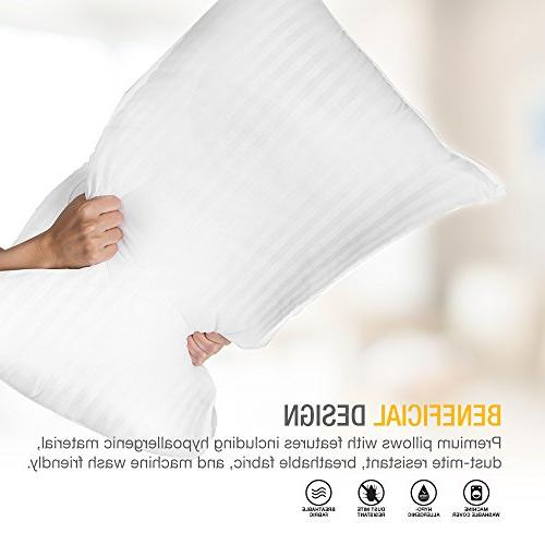 DreamNorth PREMIUM Loft Luxury Bed Pillow + Hotel Cover & Hypoallergenic Size