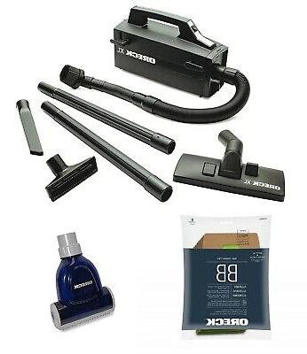Oreck Handheld BB880-AD Bagged Canister Vacuum Bundle, with