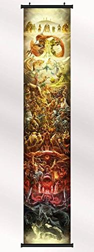 The Legend of Zelda 25th Anniversary poster with wall scroll
