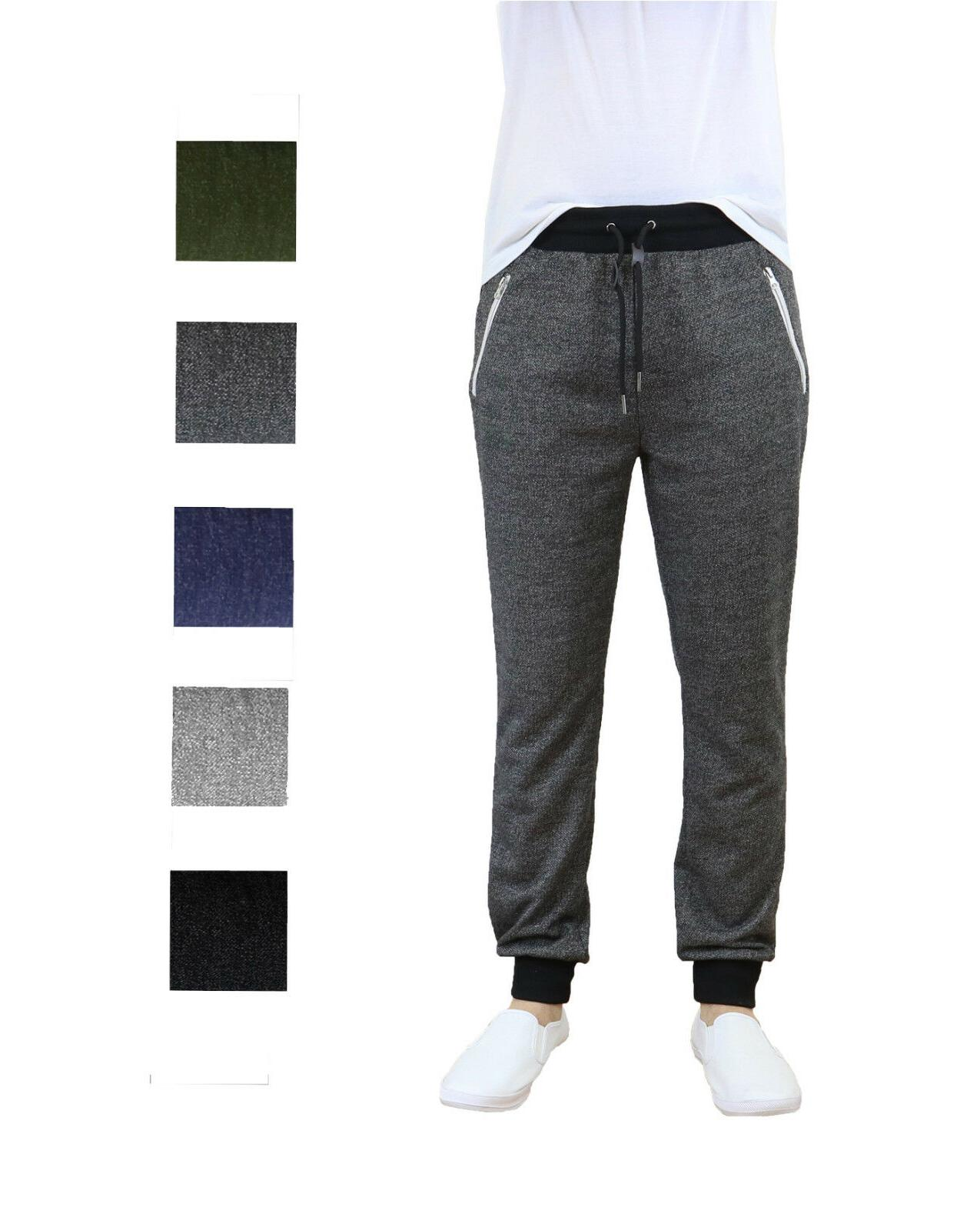 mens jogger pants sweatpant french terry active