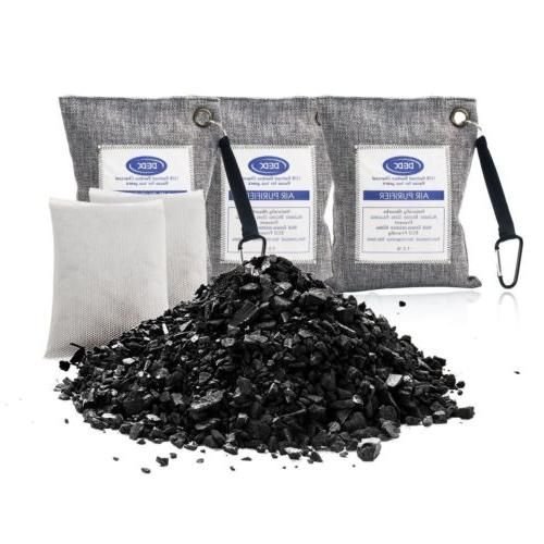 Natural Bamboo Activated Charcoal Air Purifying Bags Freshen