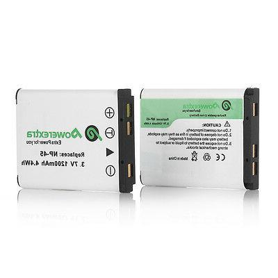 2Pack Powerextra For Fujifilm NP-45S XP10 XP60