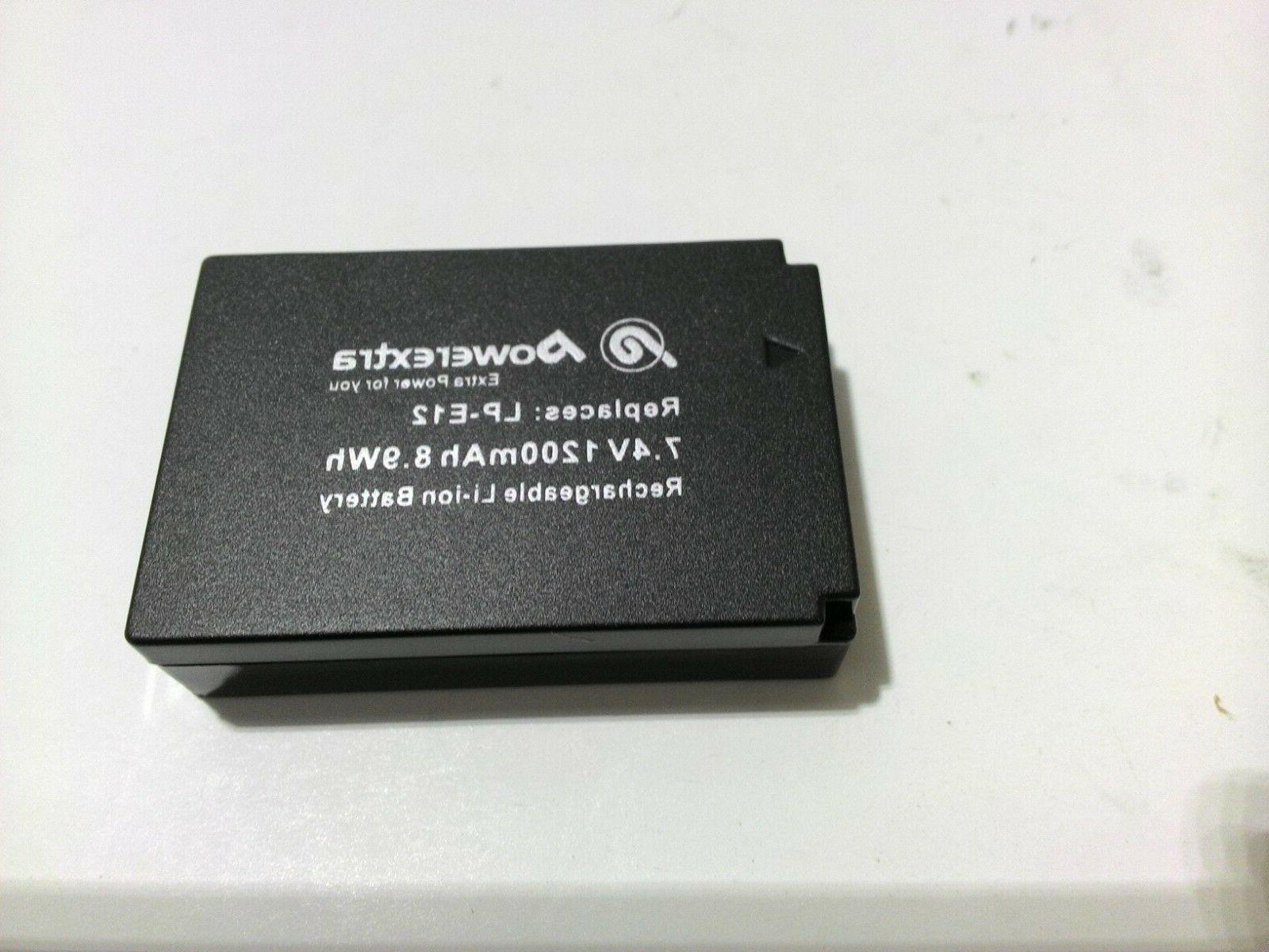 Powerextra Pack Canon LP-E12 Charger