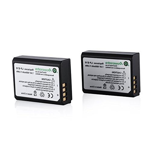 Powerextra Canon Li-ion With T3, T5, X50, 1100D, 1300D