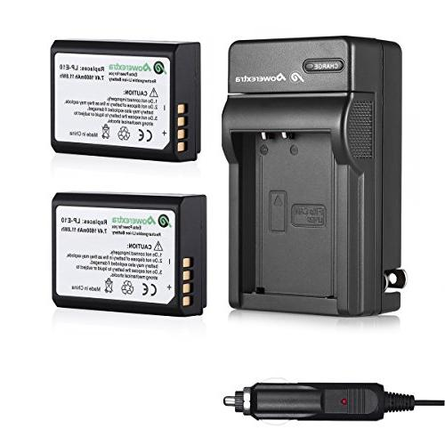 Powerextra Canon Li-ion With Charger For Canon T3, T6, X50, Kiss X70, 1100D, EOS 1200D, 1300D Digital SLR Camera