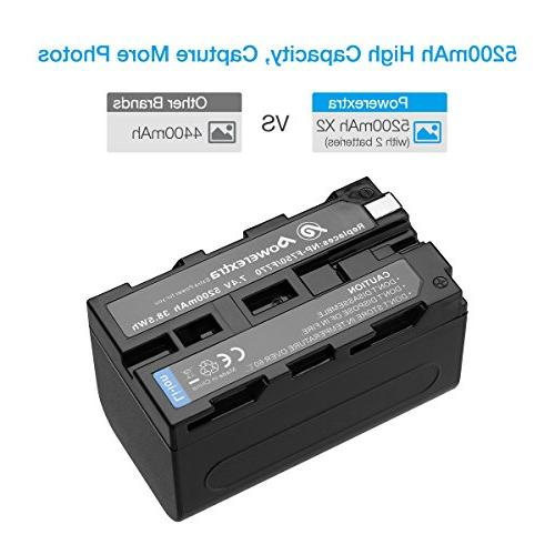Powerextra Sony Battery and Charger NP-F760, NP-F770 Battery and Sony CCD-TR315 HDR-FX1000 HDR-FX7 HVR-Z5U
