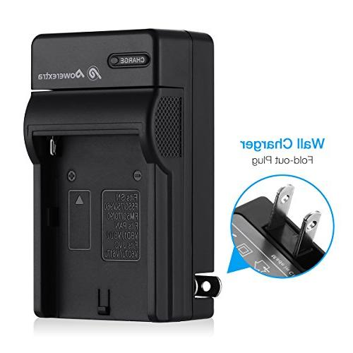 Powerextra Pack Sony NP-F750 Battery and Charger for NP-F730, NP-F760, NP-F770 Battery Sony CCD-TRV215 CCD-TR917 HDR-FX1000 HVR-Z5U