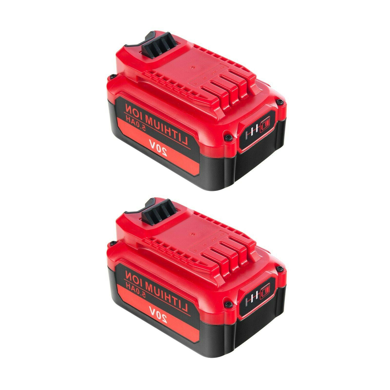 【Upgrade】2 Pack V20 for 20V Battery CMCB204