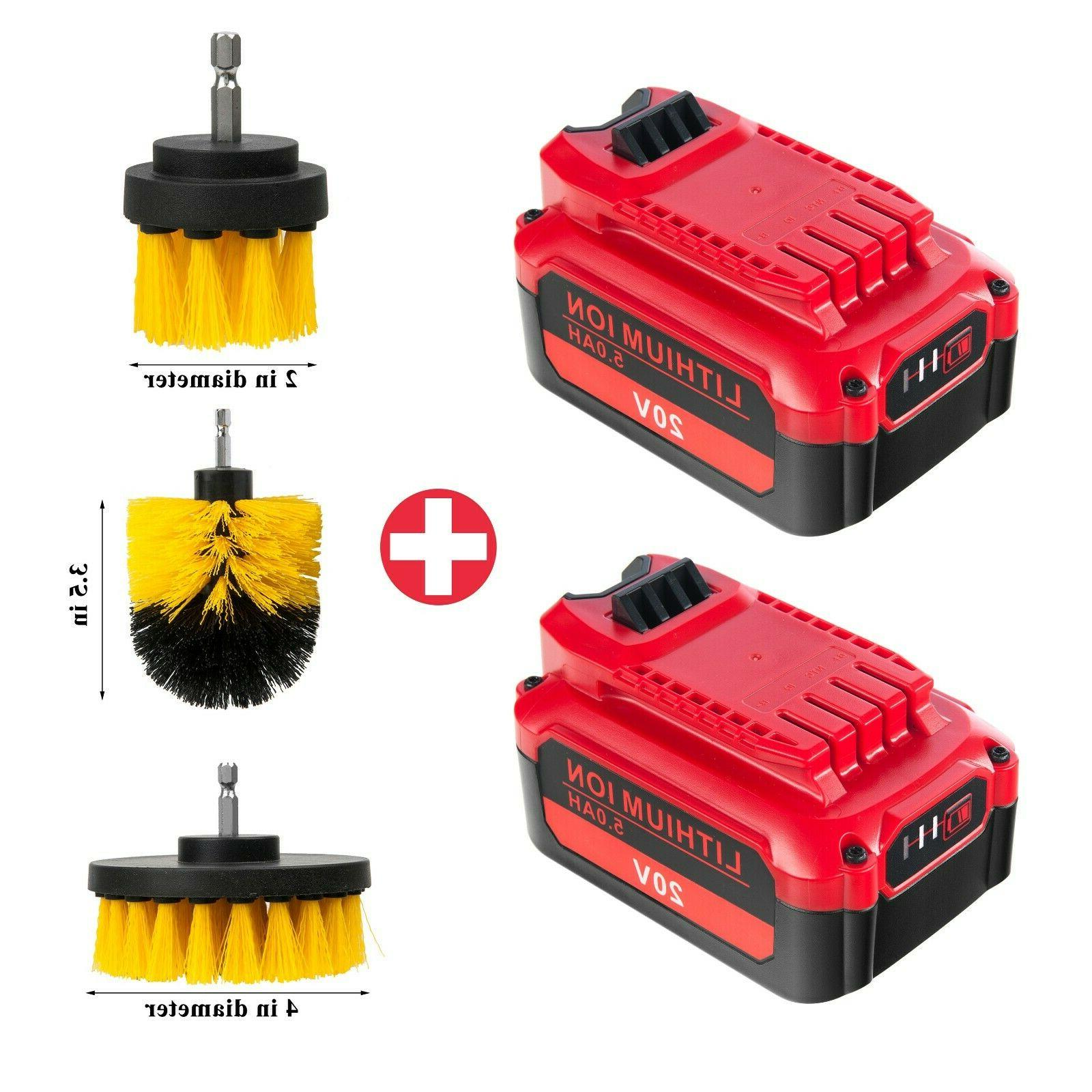 【Upgrade】2 Pack V20 Battery for Craftsman 20V CMCB204