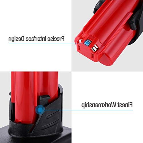 Powerextra 5000MAh Compatible with Milwaukee Cordless Milwaukee Tools,2 Pack