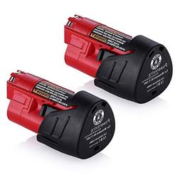 Powerextra 2 Pack 12V 2500mAh Lithium-ion Replacement Batter