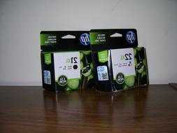 Lot 2 HP 22XL Tri-Color Original Ink Cartridge in Retail Pac