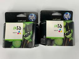 Lot 2 - HP 61XL Tri-Color Ink Pack Expire 2012