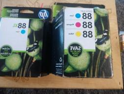 Lot of 2 HP 88 combo pack hp88xl Cyan Ink Cartridge