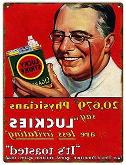 Luckies Physicians Tobacco Cigarette Sign