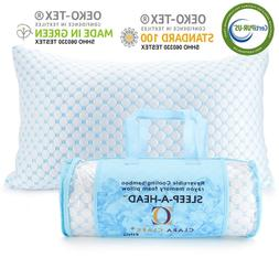 🔥Memory Foam Cooling Pillow Reducing Heat and Moisture Ic