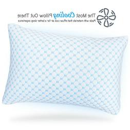 Memory Foam Cooling Pillow Reducing Heat and Moisture Ice Si