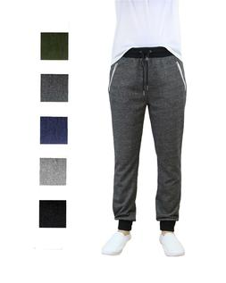 Mens Jogger Pants Sweatpant French Terry Active Gym Lounge S