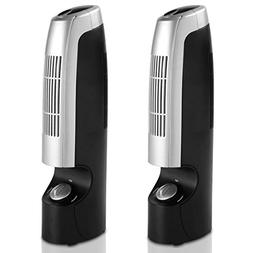 Goplus 2 PCS Mini Air Purifier & Ionizer Portable Quiet Ioni