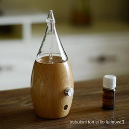 Nebulizing Essential Oil Diffuser, Wood and Glass Aromather