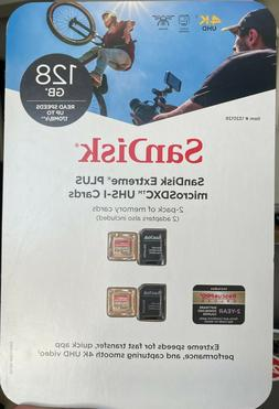 New & Sealed Sandisk Extreme Plus 128GB microSD Card with Ad