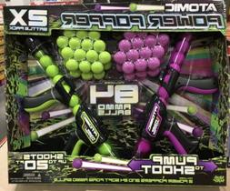 New Atomic Power Popper 2-pack with 84 Balls, Shoots Up to 2