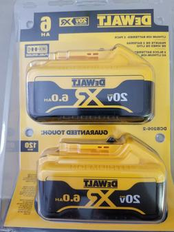 NEW - DEWALT DCB206-2 2-Pack 20-volt 6-Amp-Hours Lithium Bat