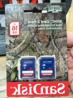 NEW! SANDISK SDHC CARD 2 PACK 2x 16GB BREAK UP COUNTRY SD CA