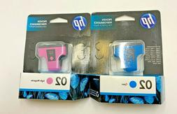 Pack of 2 - HP 02 Ink Cartridges - Light Magenta & Cyan NEW