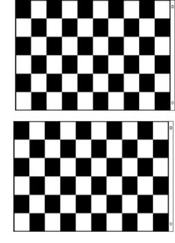 Pack of 2-  2'x3' CHECKERED BLACK AND WHITE FLAG CAR RACING-