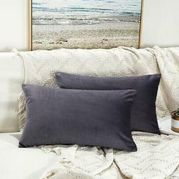 Pack of 2 Velvet Decorative Throw Pillows Covers Cases for C