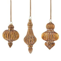 Napa Home & Garden Parisienne Ribbed Glass Ornaments, Antiqu
