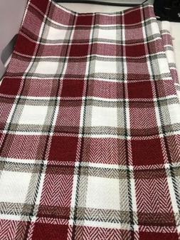 Natus Weaver Pillow Case Covers, 2 Pack, Burgundy Plaid, New