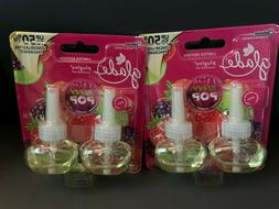 GLADE PLUGINS Scented Oil BERRY POP Refills 2 pack Lot of 2