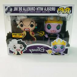 Funko POP Ursula and Cruella De Vil 2 Pack Hot Topic Exclusi
