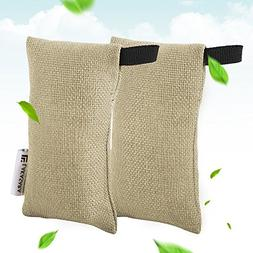 Portable Natural Bamboo Charcoal Air Purifying Bag, 75g x 2