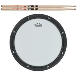 Practice Drummer Pad Bundle with Vic Firth 5A Drumsticks and