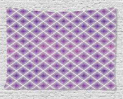 Purple Decor Tapestry by Ambesonne, Retro Style Innovative A