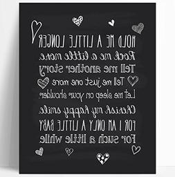 Baby Quote Nursery Art Chalkboard Typography Print - Perfect
