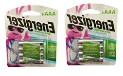 Energizer Recharge NH12BP Rechargeable AAA 4 Pack X 2